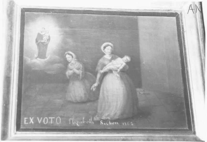 Ex-voto: Elisabeth Siribon 1862