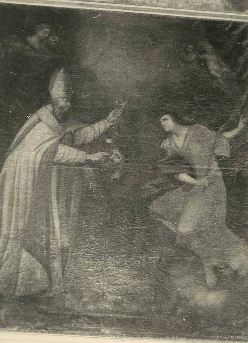 tableau : Guérison d'un aveugle par saint Gérard Tenque, vue générale