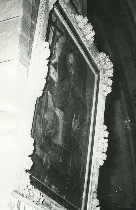 Tableau et son cadre : Saint François d'Assise