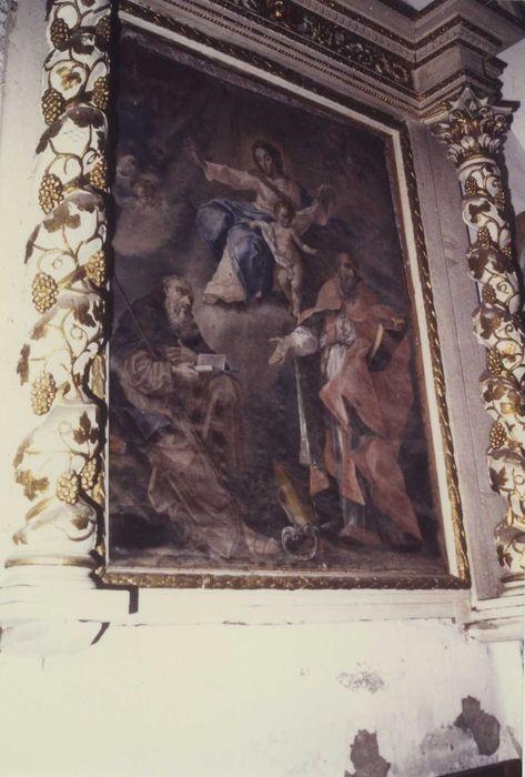 Retable et son tableau : Saint Antoine et saint Augustin