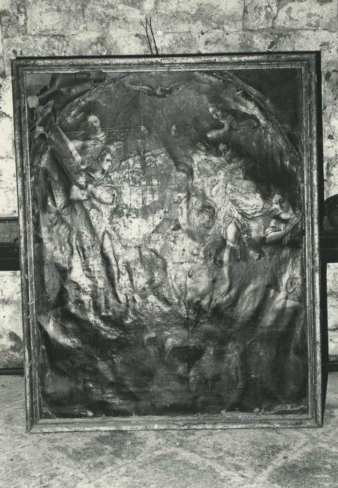 Tableau : Christ adoré par les anges et saint Jean-Baptiste