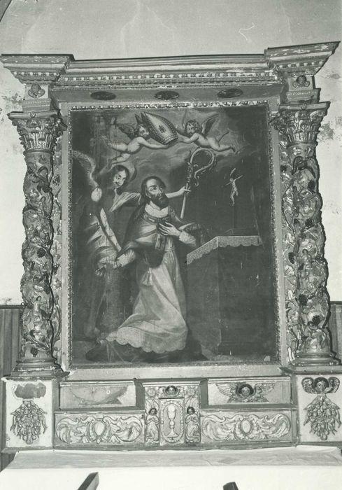 Retable et son tableau : Saint François de Sales recevant la mitre