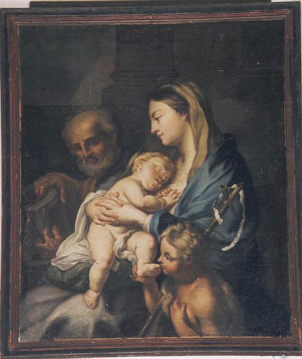 Tableau : Vierge à l'Enfant avec saint Joseph et le petit saint Jean-Baptiste