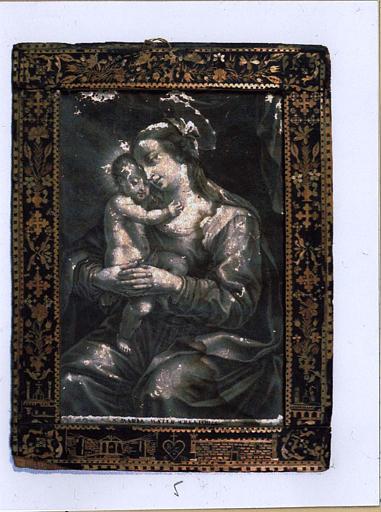 Vierge à l'enfant avec cadre