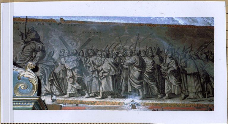 Estampe monumentale : le Triomphe de Jésus-Christ, détail de la partie droite