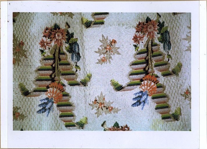 Chape, détail d'un motif floral