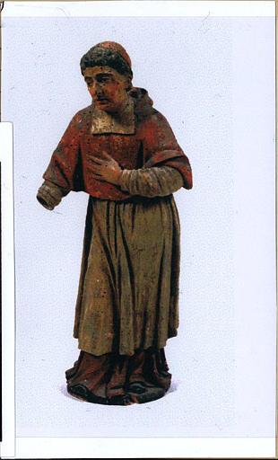 Tabernacle à gradins, détail du saint Charles Borromée