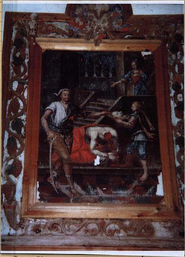 tableau et son cadre : la Décollation de saint Jean-Baptiste
