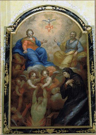 Tableau et son cadre : les Ames du Purgatoire