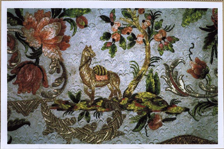 Élément de décor en tissu, détail