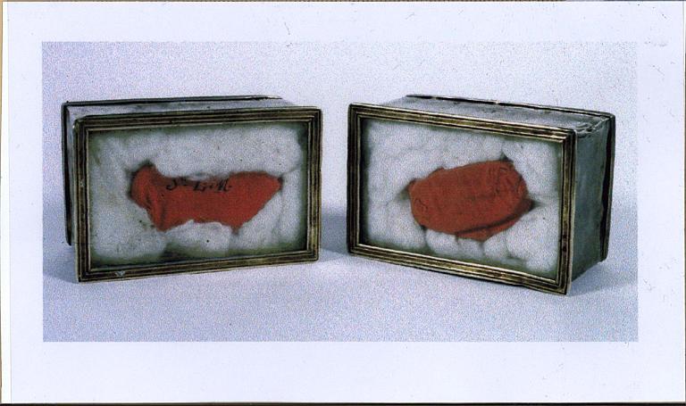 Deux boîtes à reliques