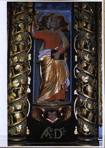 Statue du retable : saint Pierre