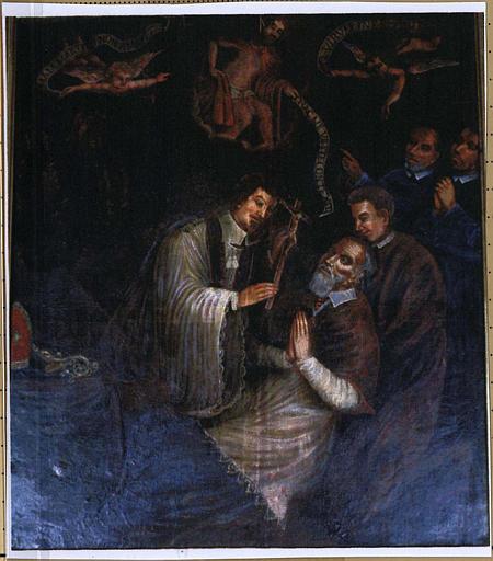 Tableau du retable : Agonie de saint Martin