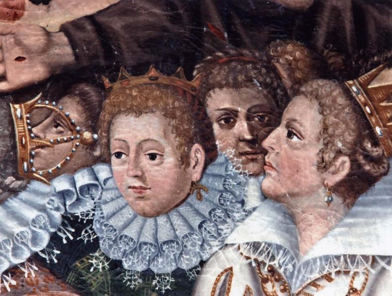 Tableau et son cadre : Pietà entourée des mystères du rosaire