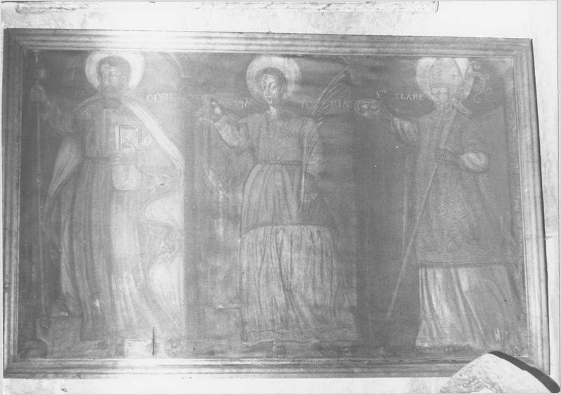 Tableau : saint Jacques, saint Clair, sainte Victoire
