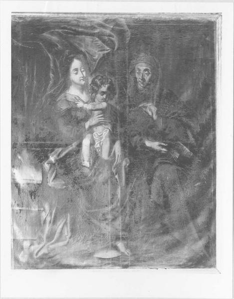 Tableau : sainte Anne la Vierge et l'Enfant Jésus