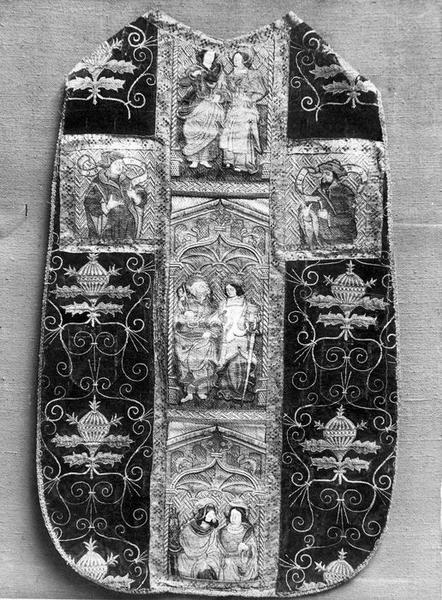 Chasuble, étole et manipule de Nicolas de Fiesque, archevêque d'Embrun