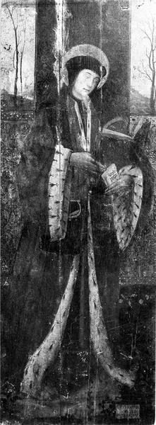 Triptyque : le Christ et les docteurs entre saint Yves et saint Elzéar de Sabran