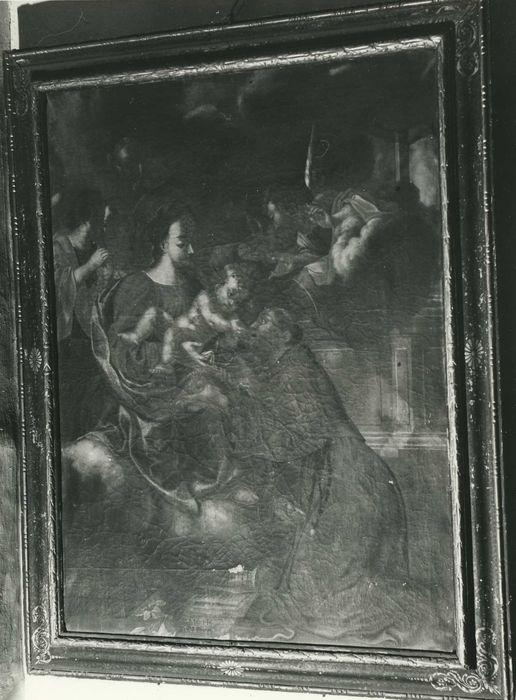 Tableau : Vierge à l'Enfant et saint Antoine de Padoue et cadre