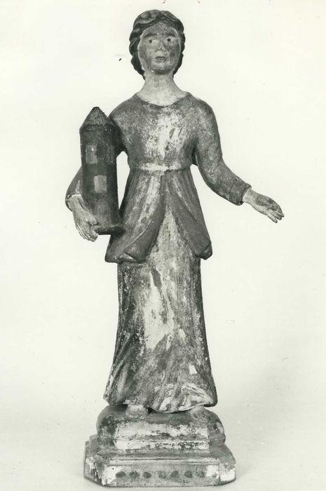 statuette : sainte Barbe, vue générale