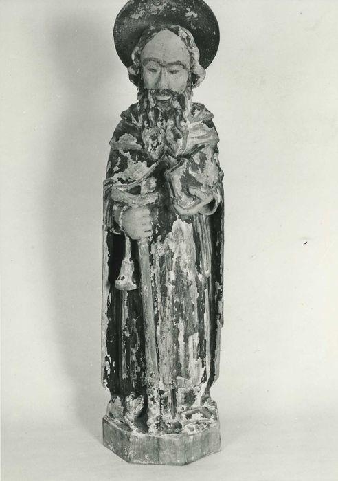 statuette : saint Antoine ermite, vue générale