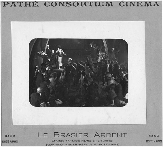 Nathalie Lissenko dans une scène de music-hall dans 'Le Brasier Ardent' de M. Mossoukine (Pathé Consortium Cinéma)