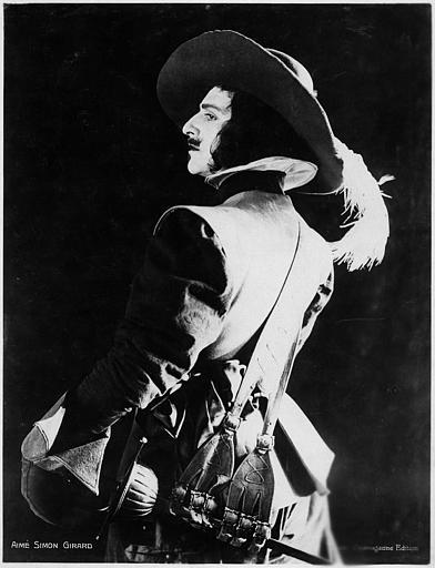 Portrait d'Aimé Simon-Girard en d'Artagnan