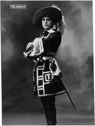 Portrait d'Aimé Simon-Girard en d'Artagnan (Gaumont)