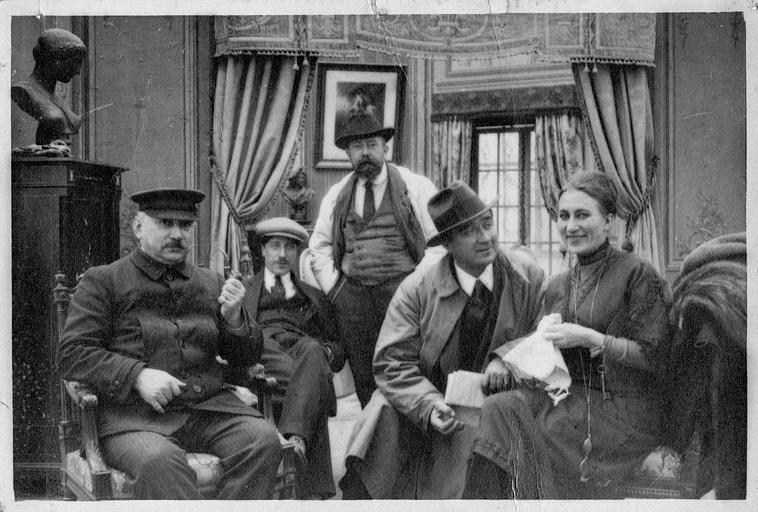 L'équipe Eclair : l'opérateur, Georges Rémond et Conquet