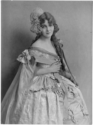 Portrait de Flora Le Breton dans 'A Gypsye Cavalier' de  J. Stuart Blackton
