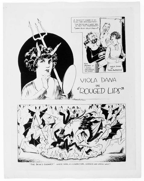Bande dessinée présentant le film 'Rouges Lips'