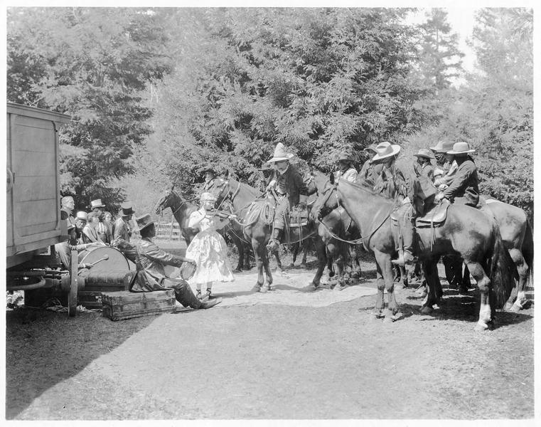 Tournage d'un western à Inceville avec Jane Novak