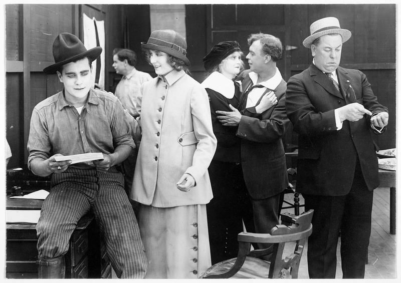 Carlos Dunning (W. E. Lawrence), Olive Temple (F. Billington), Helen (M. Marsch), Mr. Hammond (W. Higby) et James Temple (W. H. Brown)
