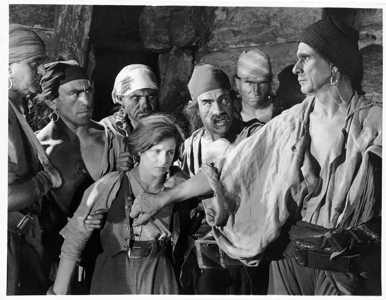 Jim Hawkins (S. Mason) et les pirates
