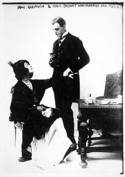 Le mariage d'Alla Nazimova et de Charles Bryant le 5 décembre 1912