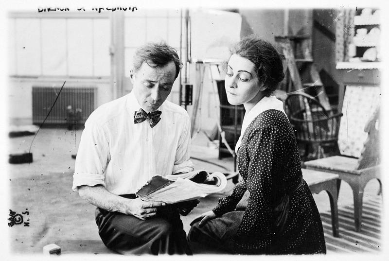 Alla Nazimova et le réalisateur Herbert Brenon