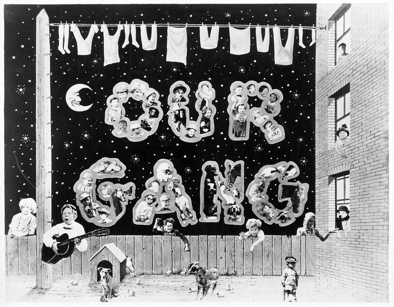 Les enfants de la troupe 'Our Gang Comedy' souhaitant une bonne et heureuse année