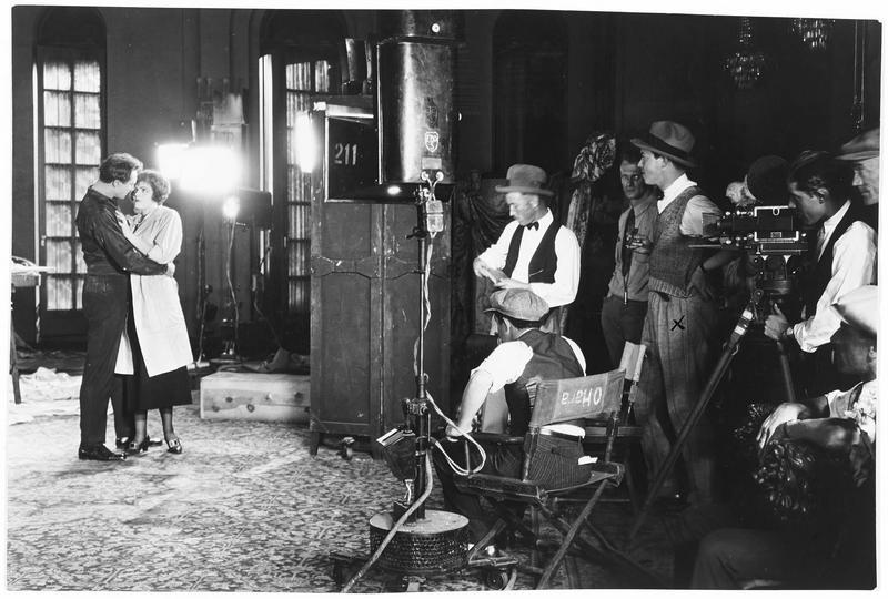 Elaine Hammerstein sur le plateau de tournage