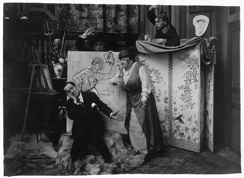 Dispute dans l'atelier d'un peintre