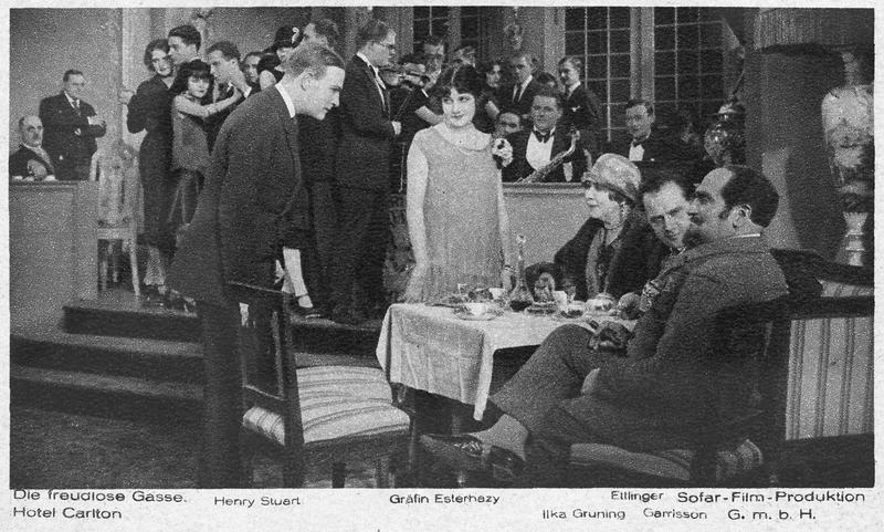 Egon Stirner (H. Stuart), Regina Rosenow (A. Esterhazy), Mrs. Rosenow (I. Grüning), Max Rosenow (K. Etlinger), Don Alfonso Canez (R. Garrison)