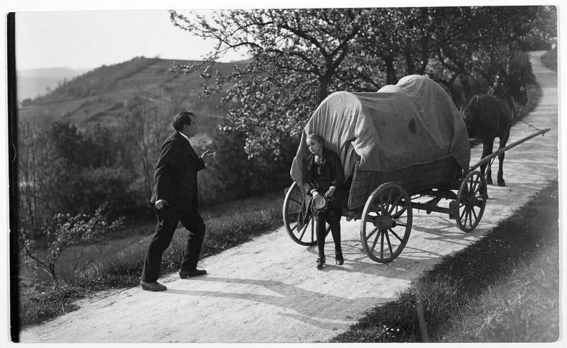 En carriole sur le chemin