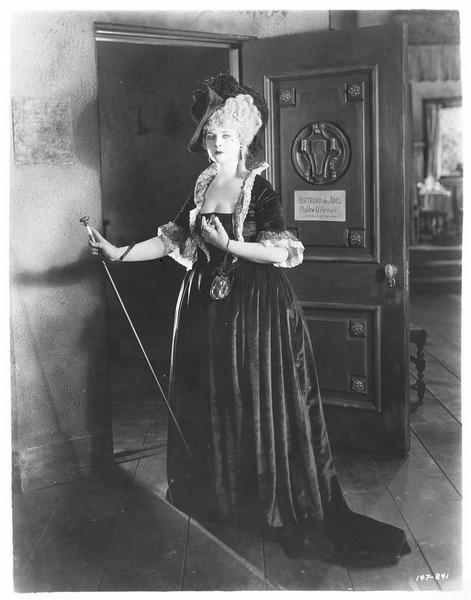 Portrait d'une actrice sur le plateau du tournage