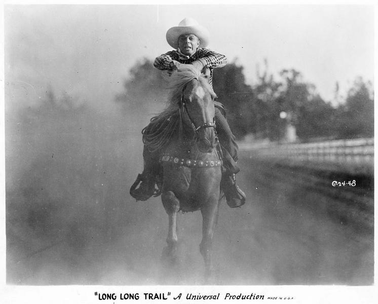 The Ramblin' Kid (H. Gibson) à cheval