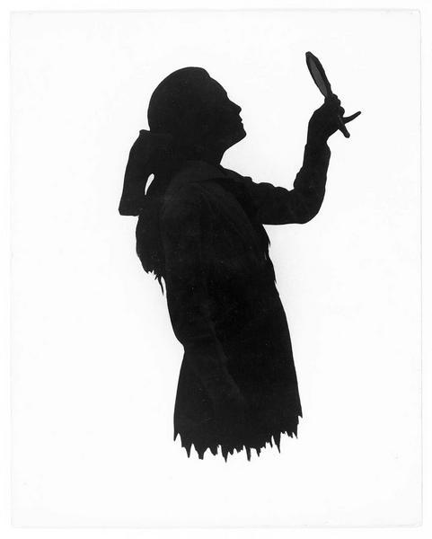 Portrait en silhouette de Pauline Stark