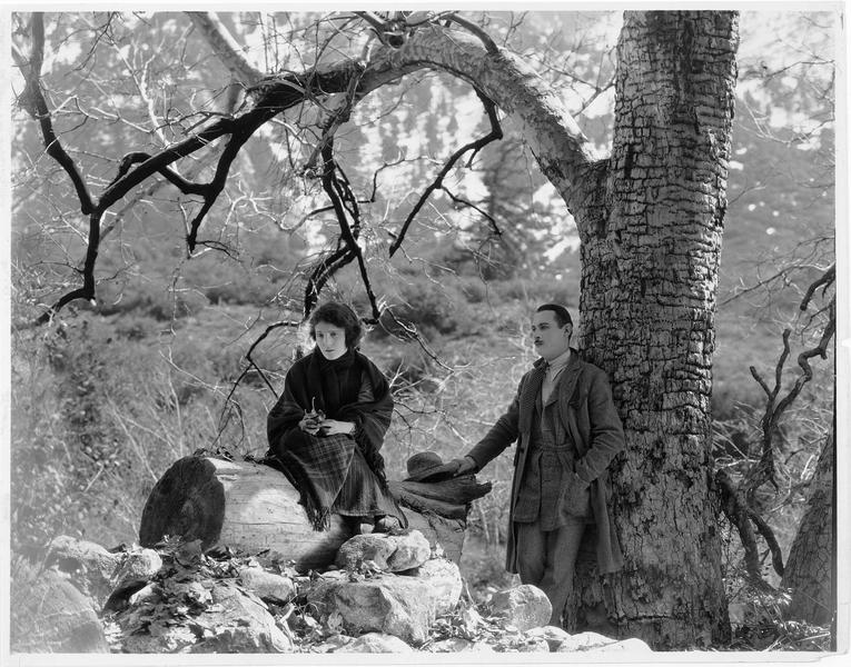 Un homme et une femme (P. Starke) sous un arbre