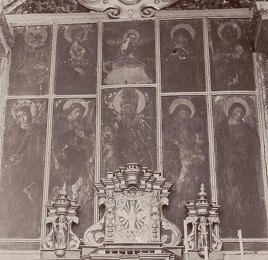 Retable, tableaux (10) : Vierge de douleur et saints