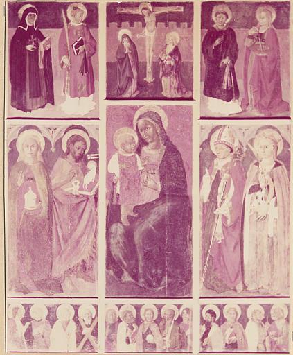 Retable, tableau : Vierge à l'Enfant et  autres saints