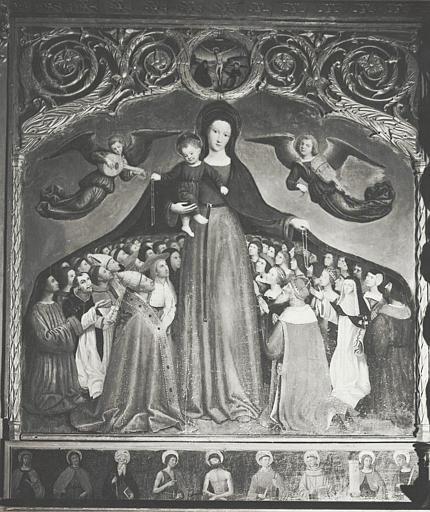 retable, tableaux : Vierge à l'Enfant