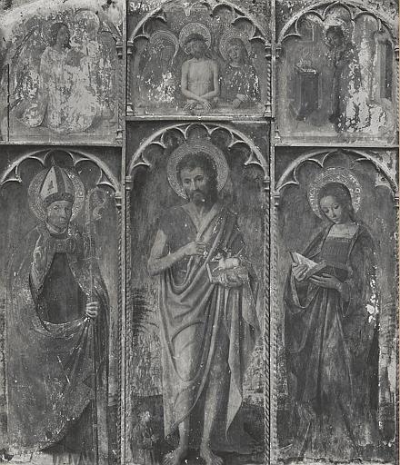 Retable, tableaux (3) : saint Jean-Baptiste, Sainte Pétronille, Saint Godard