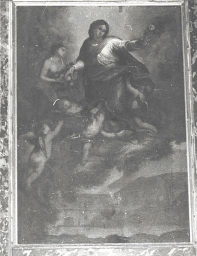 Tableau de la chapelle Notre-Dame-des-Grâces : Vierge entourée d'anges (la)